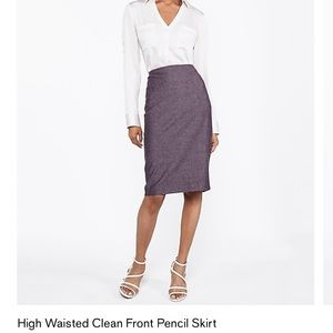 High Wasted Clean Front Pencil Skirt